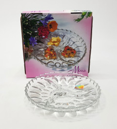 Glass Mina 3 Compartment Serving Tray
