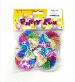 Pcs Pack Party Rainbow Printed Aluminium Spirals
