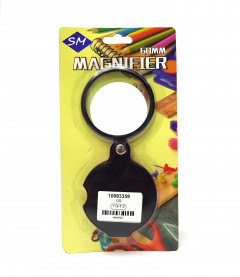 Portable Round Little Handy Magnifier 10X Mini Foldable Leather Pocket Magnifying Glass with Black Cover Case
