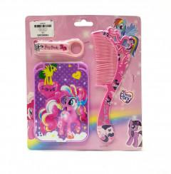 My Little Pony Nail Clipper, Mirror and Comb 3 Pcs Set