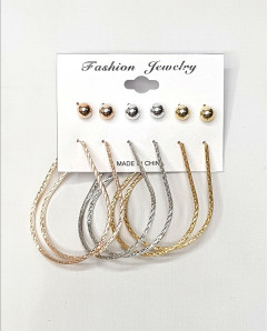 Set Of 6 Circular Earrings