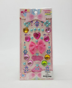 PXS Sticker for Kids Crystal Gem Rhinestone Stickers Self-Adhesive Sticker Assorted Size(Multicolor) for Craft DIY Decorations
