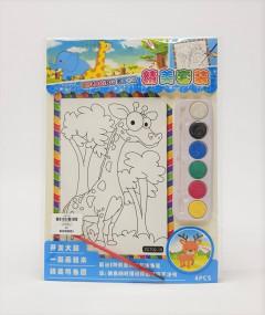 4 Pcs Coloring Book , Animals Coloring Poster