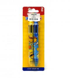 2 Pcs 6 In 1 Color Pen Set