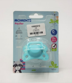 Free Soothie Pacifier Custom Big Size Food Grade Silicone Adult Pacifier Funny Parent-Child Toys (Blue)