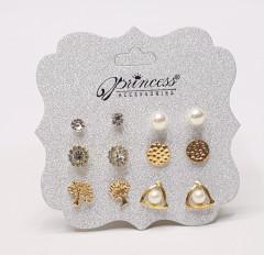 6 Pcs Pack Stud Earrings Set