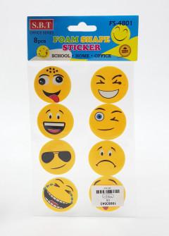 8 Pcs Pack Foam Shape Sticker
