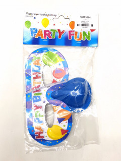 6 pcs Pack of Party Paper Eye-masks whit Nose