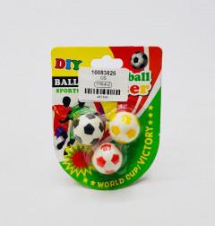 3 pcs Soccer ball eraser
