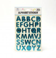 3D Alphabet Sticker