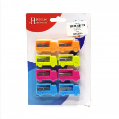 8 Pcs Funny truck shaped plastic pencil sharpener fashion stationery