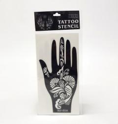 Pair (2Pcs) Henna Hand Tattoo Stencil