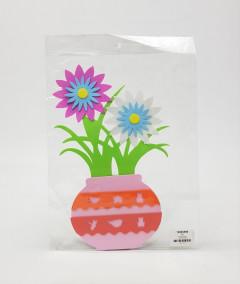 Self Adhesive Eva Foam Wall Stickers Flower Stem Designed