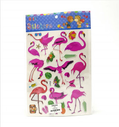 1 Pack of Flamingo Stickers