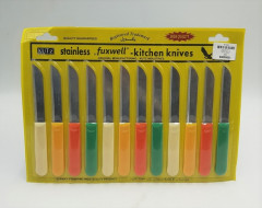 FIXWELL Multicolor Stainless Steel Knives 12-Piece Set