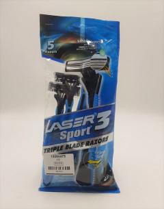 Carrefour UAE Laser 3 Sport Razors Pack of 5