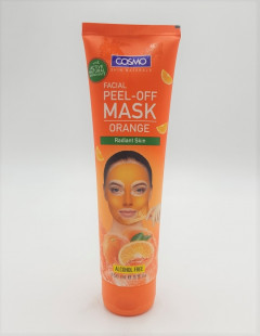 Facial Peel Off Mask Gold + Orange for Radiant Skin With Active Natural Ingredients 5 Oz (Pack of 2)