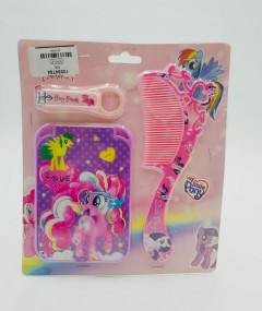 My little Pony Grooming Set Include Mirror, Hair Comb & Nail Clipper