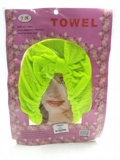 Towel Made With Super Water Absorp Tive Thin Fibre Used For Drying Hair