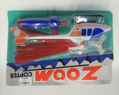 """Pull launcher zoom copter helicopter pull string & watch it zoom up. 3 asst. colors white, green & black. Each blister carded. (Size 12 1/2"""") - color sent at random"""