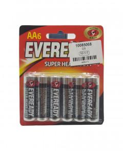 Mumzworld Eveready Zinc Batteries Pack Of 6 - AA, Black