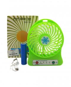 Mini Fan Portable 3 Gear Speed Cooling Fan Mini USB LED Fan Li-ion Rec