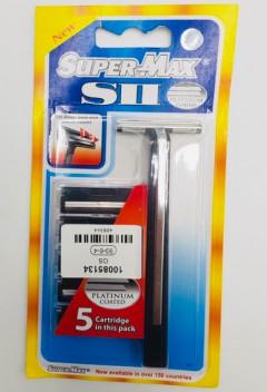 Super Max SII Platinum Coated Razors 5 Crrtridges