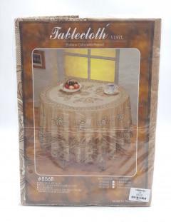 Tablecloth-60 Round Deluxe Vinyl