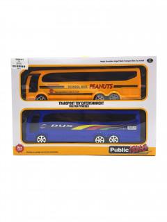2 Pcs Toys Bus