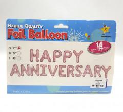 Foil Balloon Happy Anniversary Balloon Banner