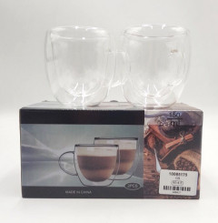 2 Pcs Double wall coffee and Tea Cup