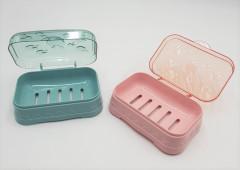 Soap Holder Double-layer Bathroom Accessories Plastic Shower Soap Dish Non-slip Draining Tool Drainage Soap Box 1PC