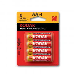 4 x Kodak AA batteries Zinc chloride Super heavy duty LR6 MN1500 MIGNON 1.5V