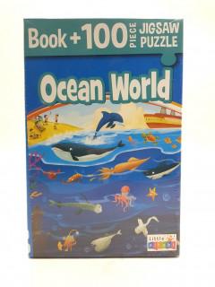 Ocean World Book + 100 Piece Jigsaw Puzzle