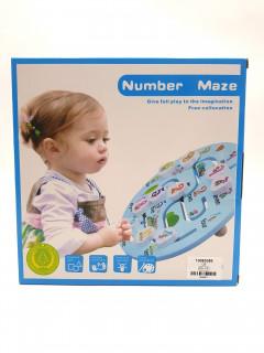 Number Maze Wooden