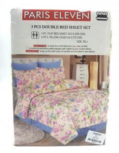3 Pcs Double Bed Sheet Set