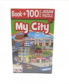 My City Book + 100 Piece Jigsaw Puzzle