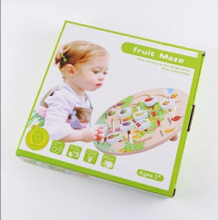SN Toy Zone Wooden Logic Matching Fruit Maze Puzzle Set