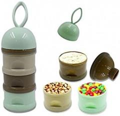 1pc Baby Portable Milk Powder Container Toddle Kids Formula Milk Boxes 3 layer Cartoon Bear Food Storage/Dispenser