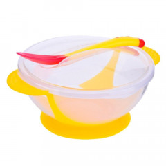 Temperature Sensing Feeding Spoon Child Tableware Food Bowl Learning Dishes