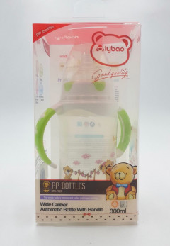 Automatic Glass Feeding Bottle With Handle 300ml