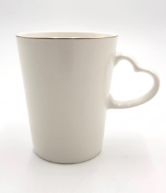 Heart Handle Coffee Mug