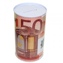 Metallic Piggy Bank 50 Euro Banknote