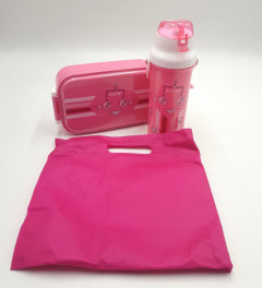 Plastic Water Bottle Rectangle Lunch Box Set Food Container