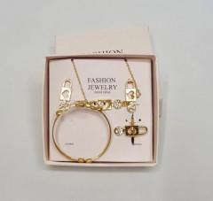 Ladies Jewelry Set Necklace Earring Bracelet Ring Set
