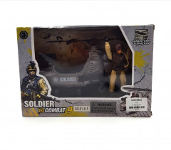 Army Toy Set with Helicopter and Special Ops Soldier