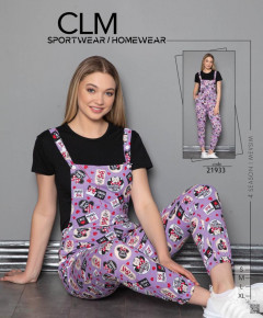 Ladies 2 Pcs Romper & T-Shirt Set