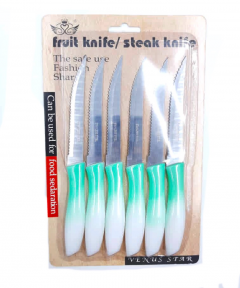 6 Pcs Set Fruit Knife - Steak Knife