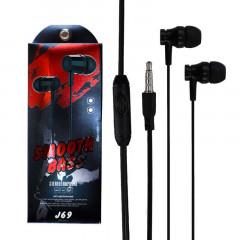 Stereo Earphone J69 With Microphone