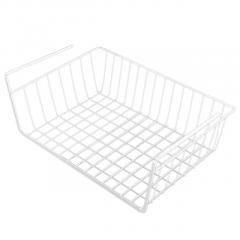 Wrought Iron Wardrobe Hanging Storage Basket Desk Shelf Finish Cabinet Rack Hanging Basket Household Multipurpose Basket